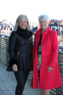 Northern Ireland Festival of Racing at Down Royal Racecourse - Day 1  Zara McCombe and Pamela Ballentine  Picture by Kelvin Boyes / Press Eye.