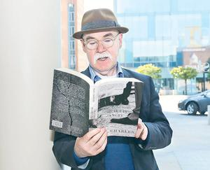 Brought to book: Paul Charles with his novel