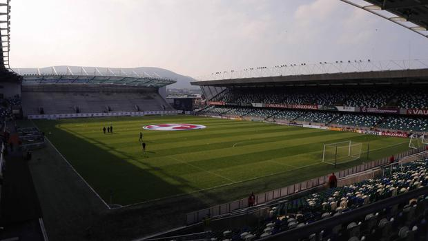 Picture - Kevin Scott / Presseye  Belfast , UK - May 27, Pictured is Northern Irelands Windsor Park in action during the last home game before heading to the Euros on May 27 2016 in Belfast , Northern Ireland ( Photo by Kevin Scott / Presseye)
