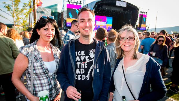 Claire Molloy, Simon Hilditch, and Dawn Harron at the BBC Biggest Weekend in Belfast
