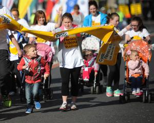 PACEMAKER BELFAST   04/05/2015 Fun Run Runners  during the Belfast Marathon 2015 takes place on Bank Holiday monday. Photo Colm Lenaghan/Pacemaker