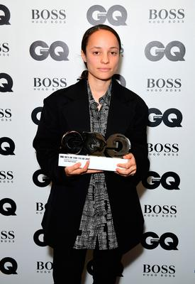 Grace Wales Bonner with her Breakthrough Designer award during the GQ Men of the Year Awards 2017 held at the Tate Modern, London. PRESS ASSOCIATION Photo. Picture date: Tueday September 5th, 2017. Photo credit should read: Ian West/PA Wire