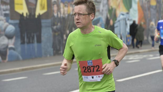 7th May 2018 37th Deep RiverRock Belfast City Marathon   Stephen Harding pictured at the marathon  Mandatory Credit ©Presseye/Stephen Hamilton