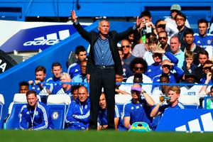 LONDON, ENGLAND - SEPTEMBER 19: Jose Mourinho Manager of Chelsea gestures during the Barclays Premier League match between Chelsea and Arsenal at Stamford Bridge on September 19, 2015 in London, United Kingdom.  (Photo by Ian Walton/Getty Images)