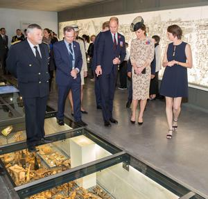 The Duke and Duchess of Cambridge tour the new Thiepval Memorial to the Missing Visitors Centre in Thiepval, France. PRESS ASSOCIATION Photo. Picture date: Friday July 1, 2016. See PA story HERITAGE Somme Royals. Photo credit should read: Ian Jones/PA Wire