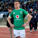 Mixed emotions: Johnny Sexton's face says it all after Ireland struggled to victory over Italy in Rome