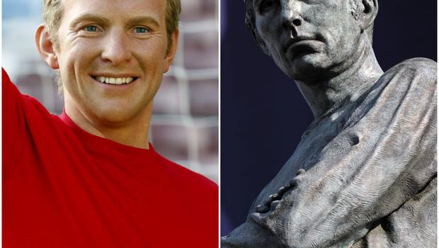 One of football's most famous statues stands outside Wembley and features who else but England's World Cup winning captain from 1966 Bobby Moore.
