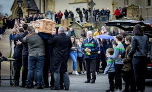 The funeral of Connor Currie takes place St Malachy's Church, Edendork on March 22nd 2019 following a crushing incident at the Greenvale Hotel in Cookstown (Photo by Kevin Scott for Belfast Telegraph)