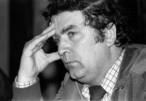 John Hume in thoughtful mood at the SDLP party conference in Newcastle in 1979