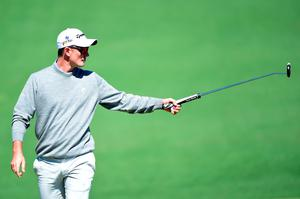 AUGUSTA, GEORGIA - APRIL 07:  Justin Rose of England reacts after putting for bogie on the second green during the first round of the 2016 Masters Tournament at Augusta National Golf Club on April 7, 2016 in Augusta, Georgia.  (Photo by Harry How/Getty Images)