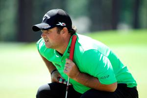 AUGUSTA, GEORGIA - APRIL 07:  Patrick Reed of the United States lines up a putt on the eighth green during the first round of the 2016 Masters Tournament at Augusta National Golf Club on April 7, 2016 in Augusta, Georgia.  (Photo by Andrew Redington/Getty Images)