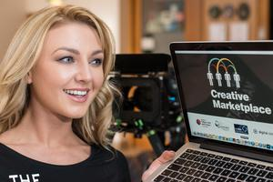 Meagan Green, Miss Northern Ireland 2013, was one of the individuals attending the North West Creative Marketplace. The new programme, funded by the Department of Culture, Arts and Leisure, offered up to 80 organisations from across the region, but outside of the creative industries, vouchers of £3,000+ each to help them get creative. The event was held in Londonderry's Millennium Forum
