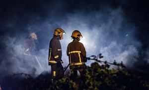 Firefighters battle a gorse fire in the New Mossley area of Newtownabbey on May 11th 2020 (Photo by Kevin Scott for Belfast Telegraph)