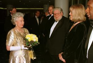 Meeting the Queen in 1997 at the Royal Festival Hall after a Royal Gala Concert to mark her majesty's golden wedding anniversary (PA)