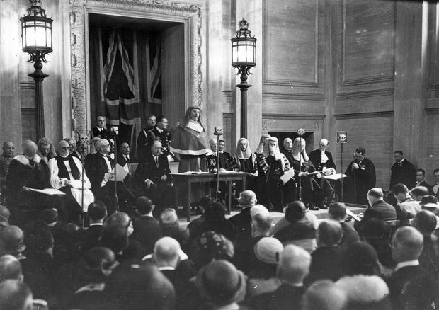 The opening of the Royal Courts of Justice, Oxford Street, Belfast.  31/5/1933 BELFAST TELEGRAPH ARCHIVE