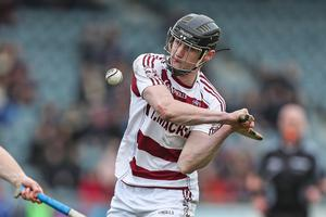 Brendan Rodgers playing for Slaughtneil in the 2018 All Ireland Senior Hurling Club Championship semi-final at Parnell Park.