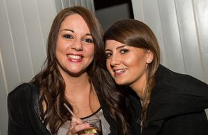 At the National Bar in Belfast: Pictured are Laura Montgomery and Karen McCulloch