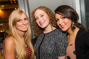 At the National Bar in Belfast: Pictured are Lucy Gibson, Victoria Carrigan and Debbie McKernon