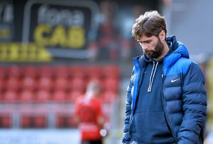 Glenavon boss Gary Hamilton cut a dejected figure at full-time on Saturday.