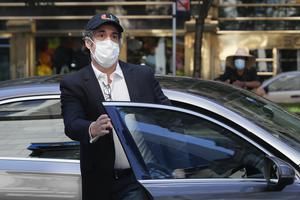 Michael Cohen arrives at his New York City apartment (John Minchillo/AP)