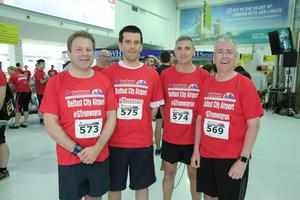 GRANT THORNTON RUNWAY RUN SCALES NEW HEIGHTS Kenton Hillman, Alan Wilson, Philip Parker and Richard Donnan get warmed up for last nightÕs Grant Thornton Runway Run at Belfast City Airport. The hugely-popular event attracted a record number of runners as 600 local businessmen and women took part in the 5k run on the tarmac of the airport. Teams of four from organisations across a wide range of sectors came together for the third year of the leading business advisory firmÕs event. Ê