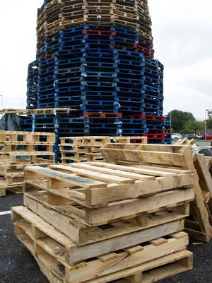 East Belfast Bonfire at Avoniel Leisure Centre car park that has had an injunction by Belfast City Council  in place to stop wood from being dumped at the site and added to the bonfire.