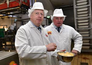 Pacemaker Press 7/11/19 Prime Minister Boris Johnson  during a visit to Tayto Castle in County Armagh Northern Ireland on Thursday afternoon. Pic Colm Lenaghan/Pacemaker