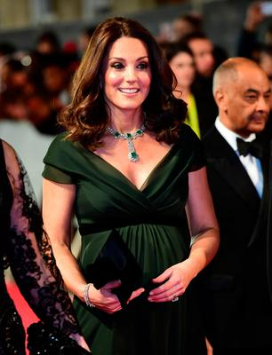 The Duchess of Cambridge attending the EE British Academy Film Awards held at the Royal Albert Hall, Kensington Gore, Kensington, London. PRESS ASSOCIATION Photo. Picture date: Sunday February 18, 2018. See PA Story SHOWBIZ Bafta. Photo credit should read: Ian West/PA Wire.