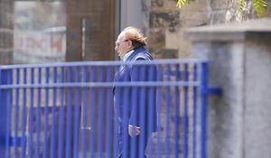 Sir Van Morrison attends the funeral of his mother, Violet Morrison in east Belfast. Photo by Kevin Scott / Belfast Telegraph.