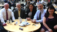 """Gerry Adams tweeted """"With Jeremy Corbyn & the comrades @ Portcullis House, Westminster"""""""