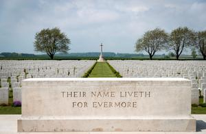 ALBERT, ENGLAND - MAY 18:  Headstones of fallen British servicemen are seen in the Caterpillar Valley Cemetery on May 17, 2016 near Albert, France. This year will see the 100th anniversary of the start of the Battle of the Somme with a series of major ceremonies planned across the UK and France on July 1 to mark its centenary.  The Somme was one of the bloodiest battles of World War One with more than one million casualties over 141 days. The fighting began just before 7.30am on the morning of July 1, 1916 and was to become known as the British Army's bloodiest day.  (Photo by Matt Cardy/Getty Images)