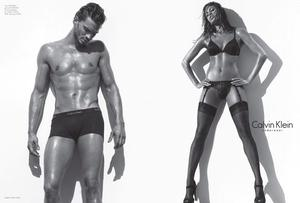 jamie dornan eva mendes, ad for Calvin Klein Jeans Shot by photographer Steven Klein in the desert in Palm Springs, California, both the Fall 2009 Calvin Klein Jeans and Calvin Klein Underwear campaigns will feature Eva Mendes and Jamie Dornan together. These dramatic black and white campaigns will be featured in global print and outdoor advertising. The Calvin Klein Jeans campaign will feature the exciting new Calvin Klein Jeans Body, a revolutionary, new jean for men and women, uniquely designed for a more contoured and shape enhancing fit.