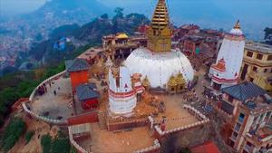 Video taken from a drone Saturday April 25 2015 shows devastation in the Nepalese capital Kathmandu, caused by Saturday's quake that measured 7.8 on the Richter Scale. Nepal's earthquake-hit capital was short on everything Monday April 27 2015, as its people searched for lost loved ones, sorted through rubble for their belongings and struggled to provide for their families' needs. In much of the countryside, it was worse, though how much worse was only beginning to become apparent. The official death toll soared past 4-thousand, even without a full accounting from vulnerable mountain villages that rescue workers were still struggling to reach two days after the disaster. (AP Photo / KISHNOR RANA)