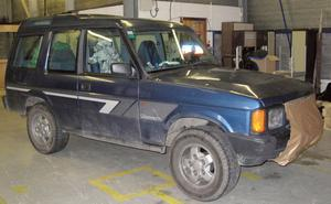 Dyfed-Powys Police undated handout photo  of the Land Rover used by 46-year-old Mark Bridger. Former slaughterhouse worker Bridger has been found guilty of abducting and murdering schoolgirl April Jones