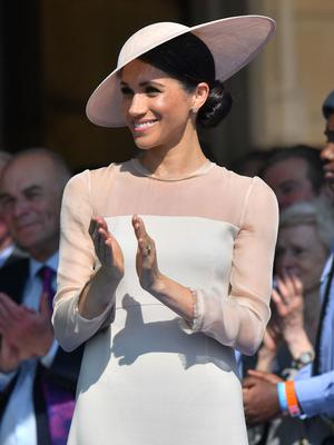 Meghan was clearly impressed (Dominic Lipinski/PA)