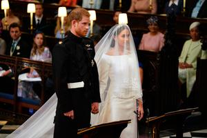 Prince Harry and Meghan Markle in St George's Chapel at Windsor Castle for their wedding. (Dominic Lipinski/PA Wire)
