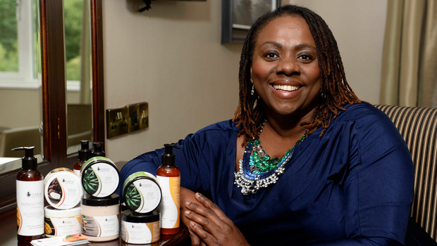 Dr Ava Brown with some of her Chakai products