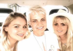 Orlagh McCloskey with her mum Angela and twin sister Gemma