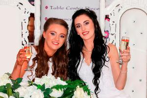 Robyn and Sharni Edwards-Peoples celebrate on their wedding day