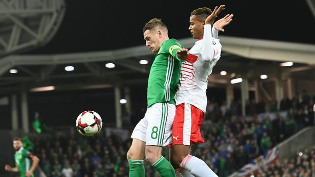PACEMAKER BELFAST  09/11/2017 Northern Ireland v Switzerland  World Cup Play Off qualifier Northern IrelandÕs Steve Davis during this evenings game at the National Stadium Windsor Park. Photo Colm Lenaghan/Pacemaker Press