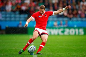LEICESTER, ENGLAND - OCTOBER 06:  Gordon McRorie of Canada kicks for goal during the 2015 Rugby World Cup Pool D match between Canada and Romania at Leicester City Stadium on October 6, 2015 in Leicester, United Kingdom.  (Photo by Laurence Griffiths/Getty Images)