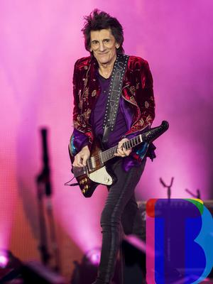 Ronnie Wood of the Rolling Stones on stage at Croke Park, Dublin for their first night of their 'STONES - NO FILTER' 2018 tour. Thursday 17th May 2018. Credit: Liam McBurney/RAZORPIX