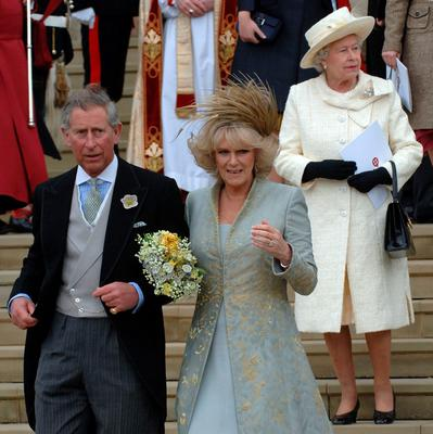 File photo dated 09/04/2005 of the Prince of Wales leaving St Georges Chapel in Windsor after marrying  his former mistress Camilla Parker Bowles, making her an HRH and the Duchess of Cornwall. Queen Elizabeth II (behind) attended their religious blessing but was not present at their civil ceremony as the Queen turns 90 on the April 21st. PRESS ASSOCIATION Photo. Issue date: Sunday April 3, 2016. See PA story ROYAL Birthday. Photo credit should read: Stefan Rousseau/PA Wire