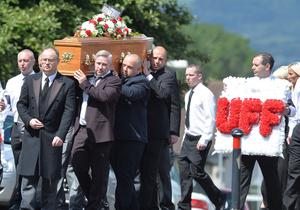 Pacemaker Press 17/7/2015 (No Byline Please) The Funeral of veteran loyalist Colin 'Bap' Lindsay takes place at Belvoir Church of Ireland on Friday.  He was murdered in a attackin at  his home in the Kirkistown Walk area of South Belfast