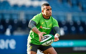 DUBLIN, IRELAND - NOVEMBER 24:  Will Genia of Australia looks for a pass during an Australia training session at the RDS Arena on November 24, 2016 in Dublin, Ireland. (Photo by Dan Mullan/Getty Images)