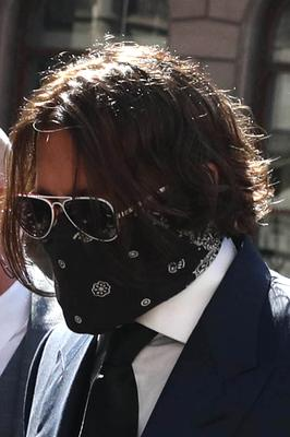 Johnny Depp arrives at the High Court (Steve Parsons/PA)