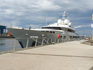 The Jamaica Bay yacht is moored in Belfast. Rumours are circulating that it belongs to Beyonce.