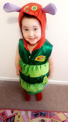 Kacie - Leigh, aged 4, from Ballycastle dressed as The Very Hungry Caterpillar
