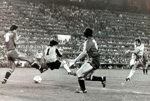 Gerry Armstrong scoring that goal against Spain in '82