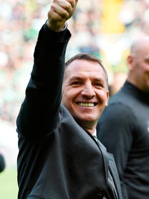 Thumbs up: Brendan Rodgers took Donnelly to Swansea